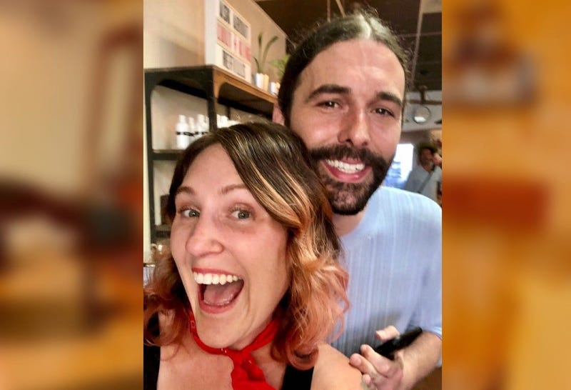 "Mockingbird Salon owner Heidi Wallace poses with ""Queer Eye"" star Jonathan Van Ness. The hit reality show shot its fifth season, which debuted Friday, in Philadelphia."