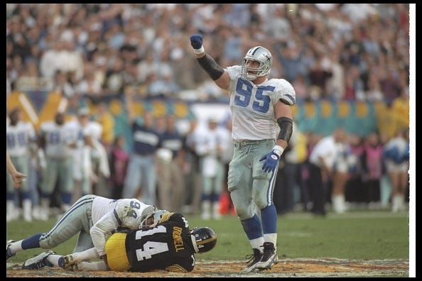 Chad Henning celebrates a play with the Dallas Cowboys.
