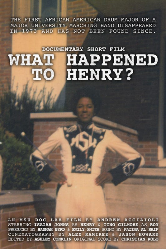 Henry Baltimore Jr. was MSU's first African American drum major
