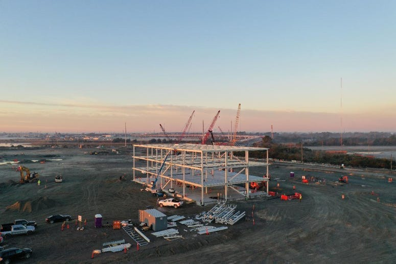 The new operations building is the first and largest building on the Hugh K. Leatherman Sr. Terminal in North Charleston.
