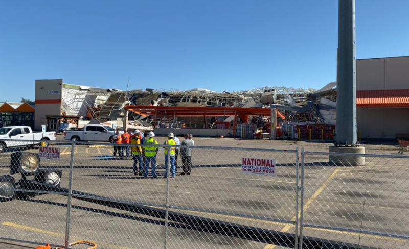 Dallas Home Depot Destroyed by Tornado