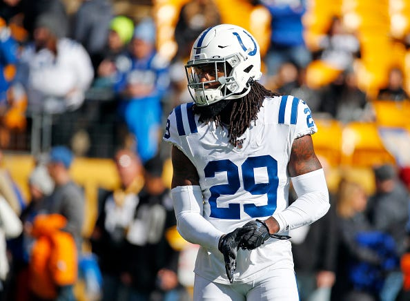 Malik Hooker takes the field for the Indianapolis Colts.