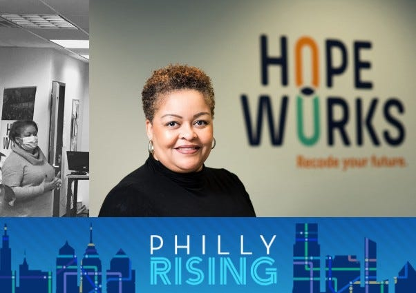 Alia Sutton-Bey is director of operations and youth development at Hopeworks Camden, which trains young people to pursue tech industry jobs.