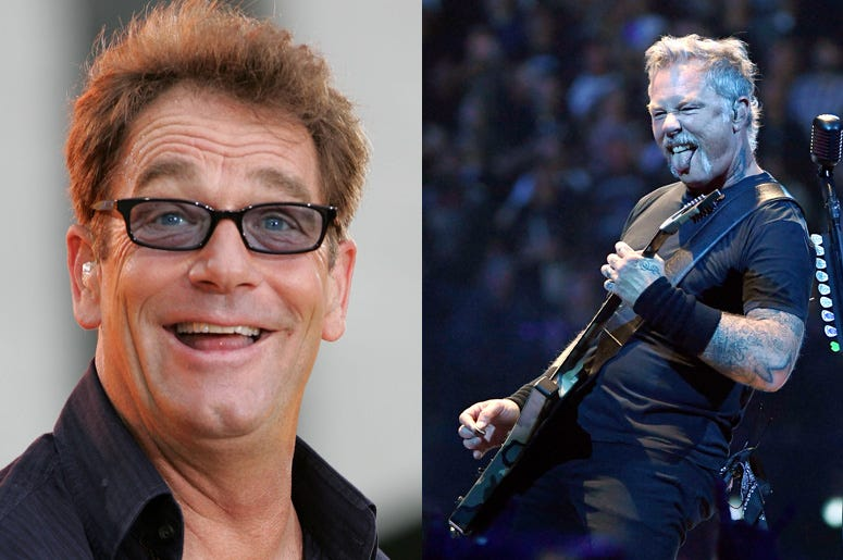 Huey Lewis and James Hetfield
