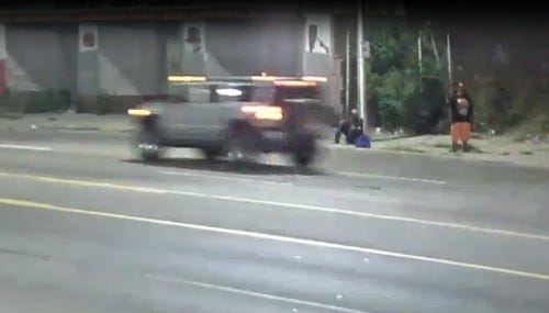 Hit-and-run suspect vehicle