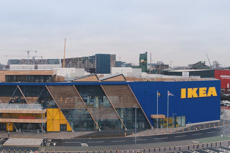 Outside of Ikea's Greenwhich store