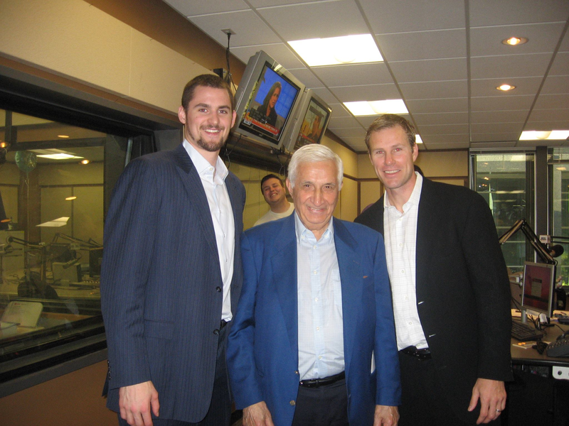 Sid with Kevin Love and Fred Hoiberg