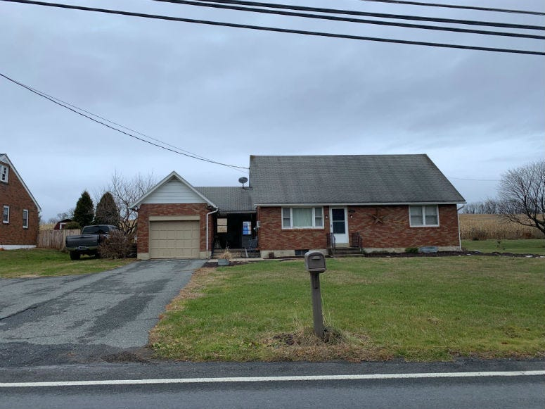 A Berks County home where murder charges have been filed against a woman whose children were found hanging in this home's basement.