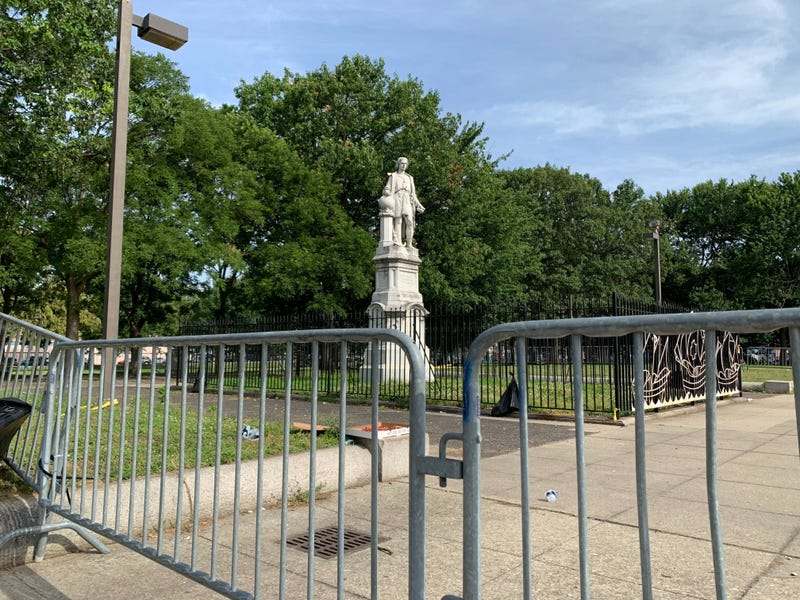 Christopher Columbus statue at Marconi Plaza in South Philadelphia