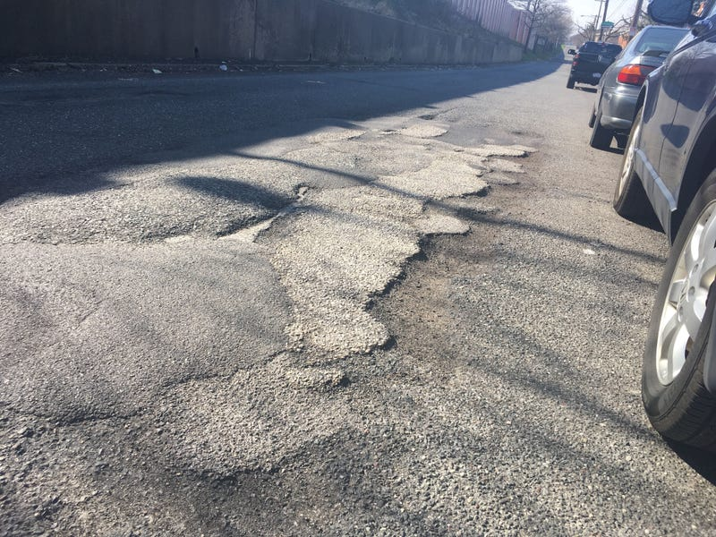 A pothole