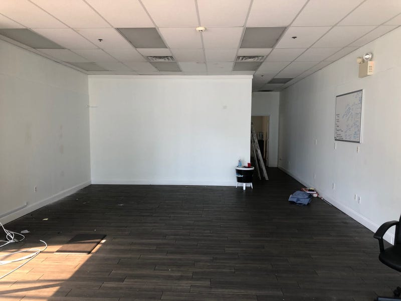 Empty office space where Jenkintown firm SEO Locale once operated.