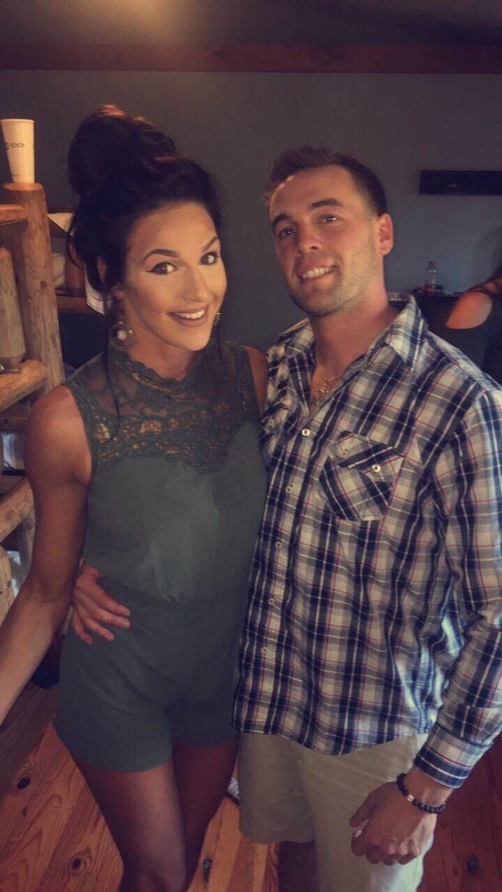 Marine veteran Patrick Duva and his fiancee, Chelsea.
