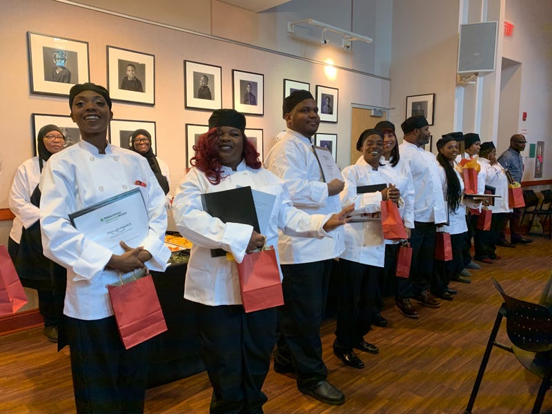 Graduates from Philabundance's Community Kitchen program.