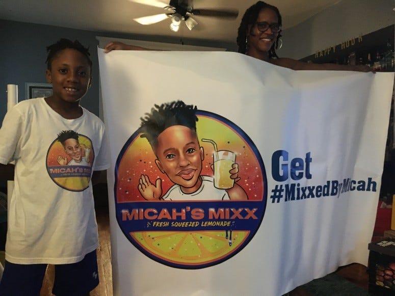 10-year-old Micah Harrigan