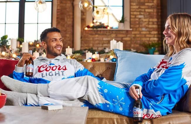 Coors Light holiday onesie