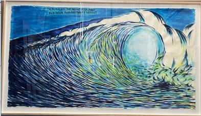 One of the forged Raymond Pettibon paintings Christian Rosa Weinberger allegedly sold.