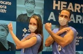Alicja and Jacob Salman, hospitalists at various Advocate Aurora locations