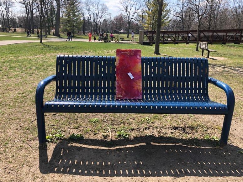 Local artist leaves art in Dodge Park