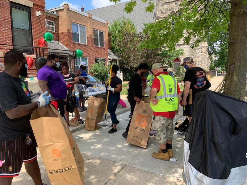 Neighbors in the Belmont area of West Philadelphia spent their Saturday afternoon coming together to clean up their streets.