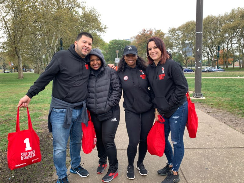 Luis Molina, Khadyjah Neal, Ciji Carr, and Denise Martinez formed a team for the 33rd AIDS Walk Philly.