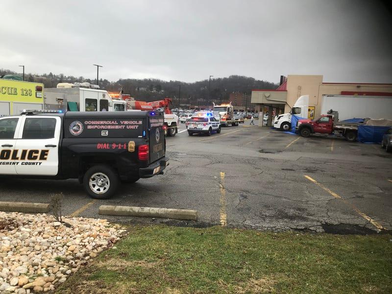 Elderly Woman killed by tractor trailer in Crafton Ingram Shopping Center