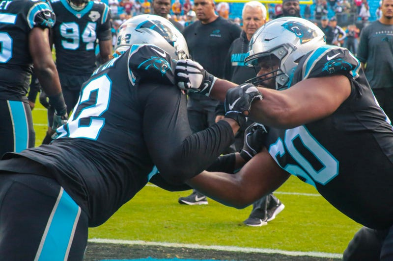 Panthers offensive line