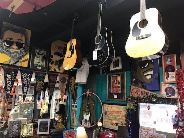 Featured wall at Johnnys museum