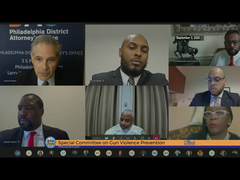 Philadelphia City Council, the Philadelphia Police Department, the DA's office gathered on a Zoom call for a hearing on gun violence