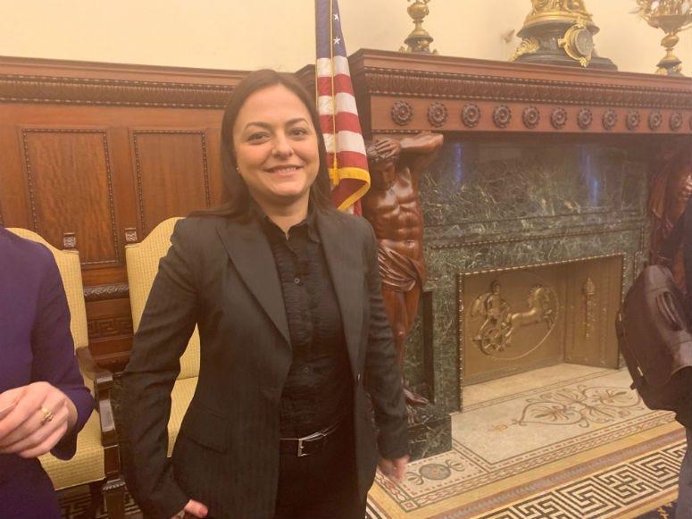 Berna Altok at Philadelphia City Hall.