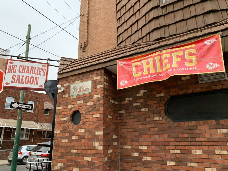 Big Charlie's Saloon is at the corner of 11th and McKean streets in Philadelphia.