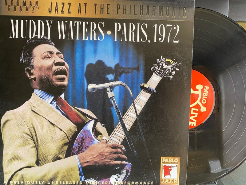 The vinyl edition of a live Muddy Waters album.