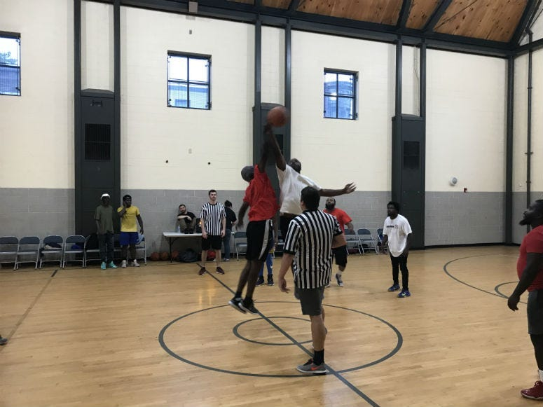 Hoops for Hope is reaching out to homeless residents in Philadelphia to help them make life changing plays off the court.