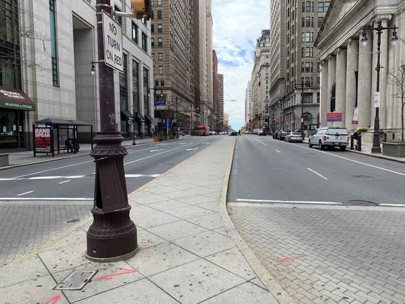 South Broad Street has seen more parked than moving vehicles since the coronavirus pandemic forced officials to issue stay-at-home orders.