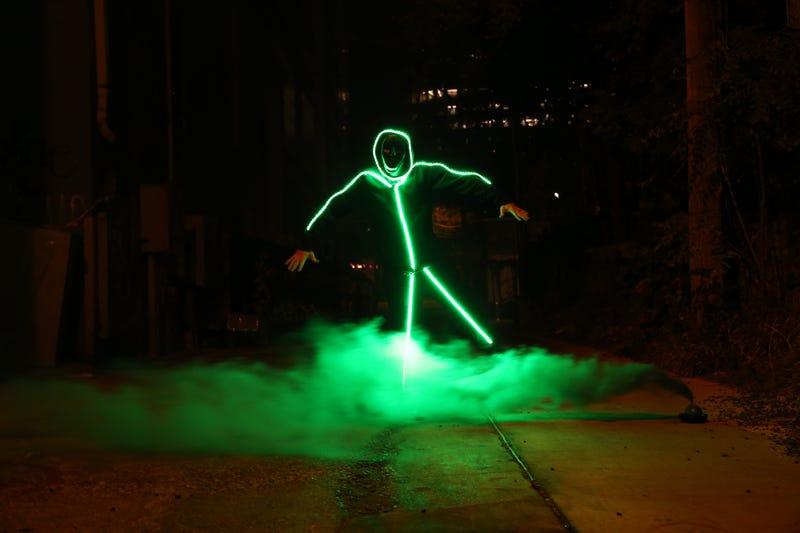 smoke stick man