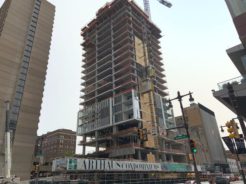 A condo being developed in Center City