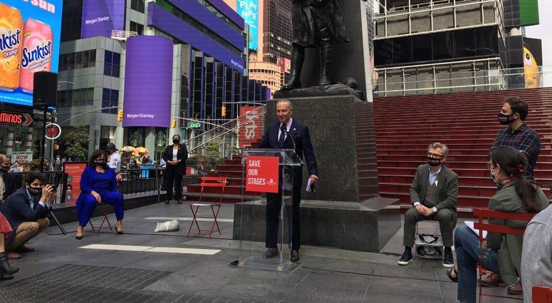 Sen. Schumer on Broadway