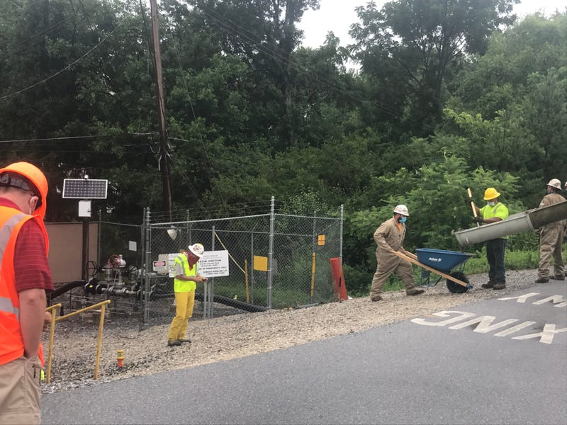 A Sunoco crew works on pipeline construction in Chester County.