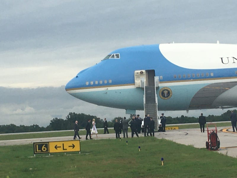 Boarding Air Force One