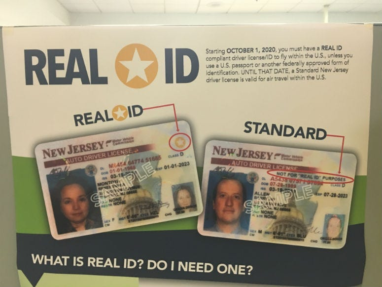REAL ID in New Jersey.