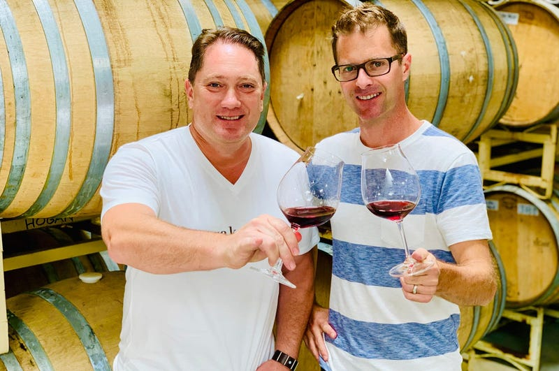 Winemaker Bret Hogan with Liam (Photo credit: Foodie Chap/Liam Mayclem)