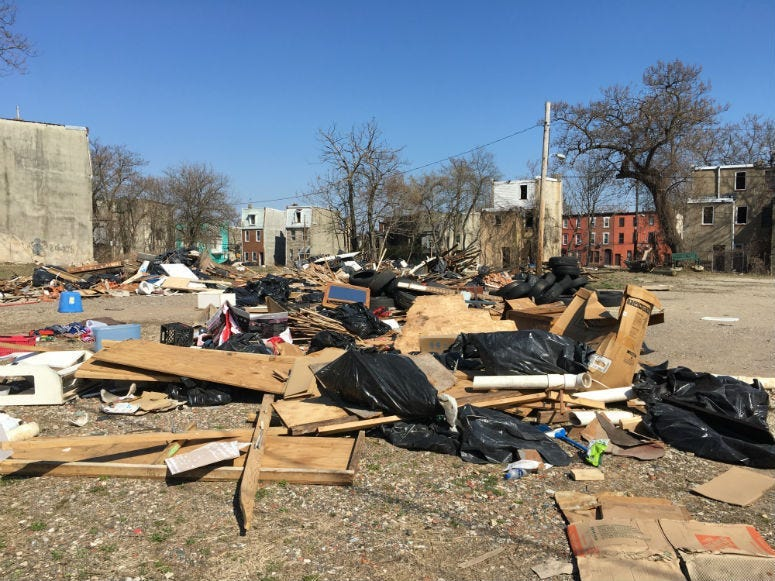 Sharswood has become a dumping ground, and city officials can't seem to do anything about it.