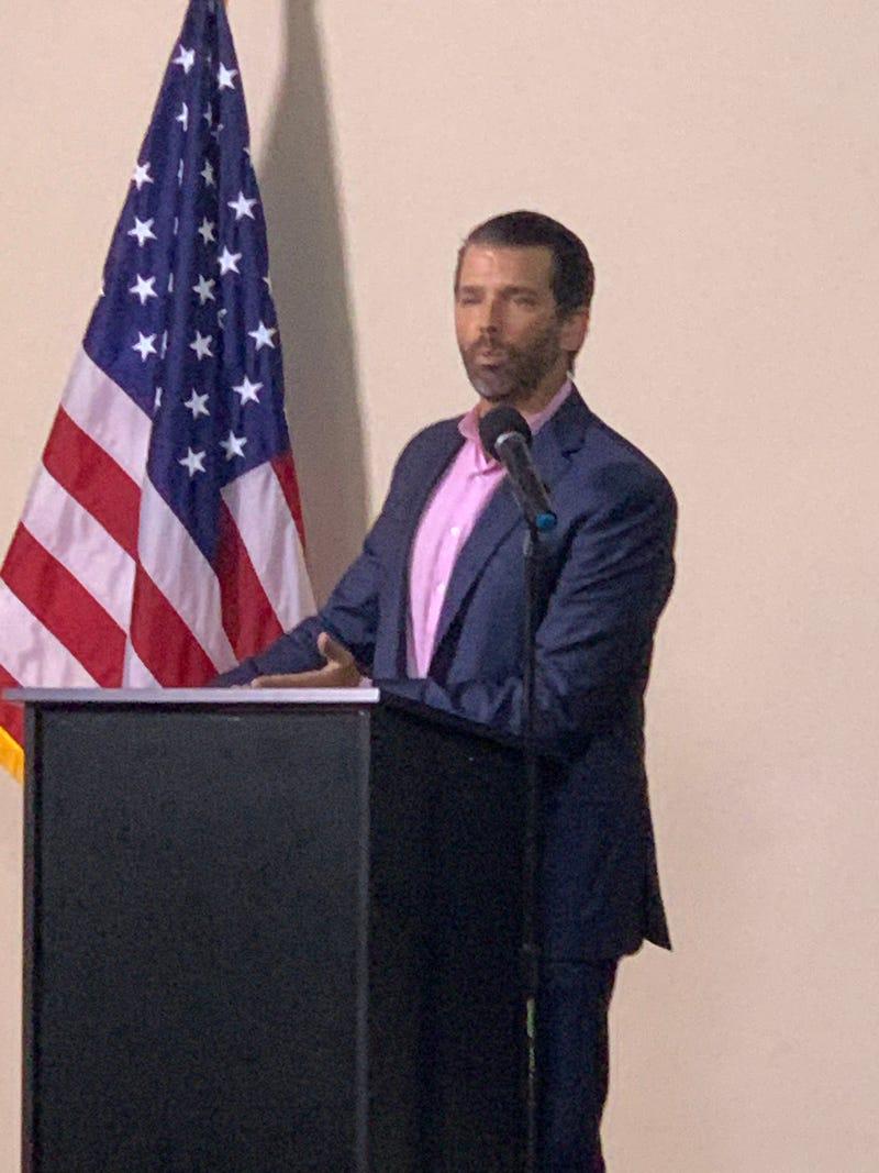 Donald Trump, Jr. Speaks at Pop-Up Event - Steve Sinicropi