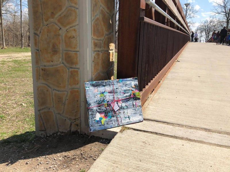Artist leaves art around Dodge Park