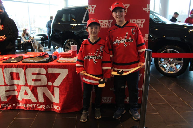 Washington Capitals, TJ Oshie and Chandler Stephenson met with fans and signed autographs at Lindsay Cadillac of Alexandria.