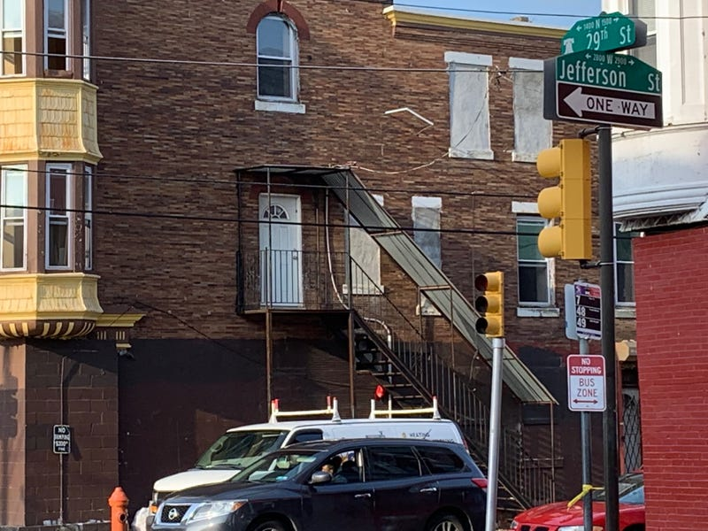 Intersection of 29th and Jefferson streets in Brewerytown, where two women were stabbed Monday night, one of them fatally, in violence apparently sparked by social media posts.