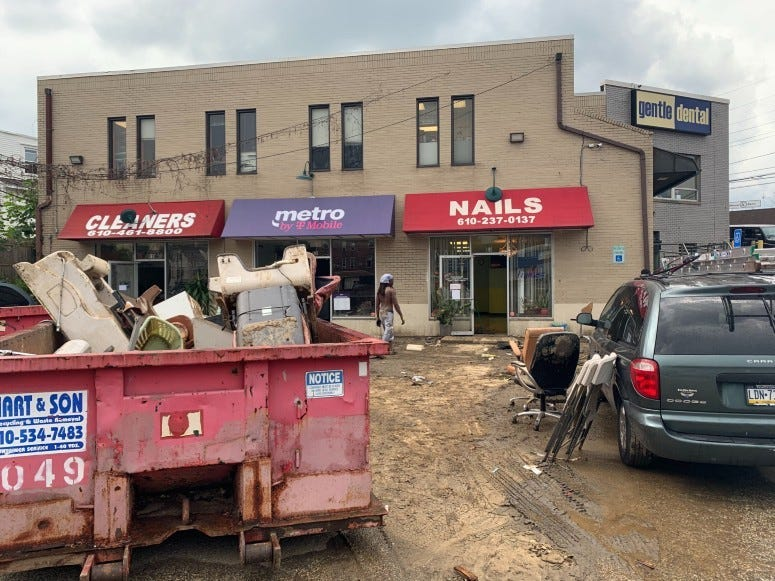 Delaware County businesses cleaning up after Isaias