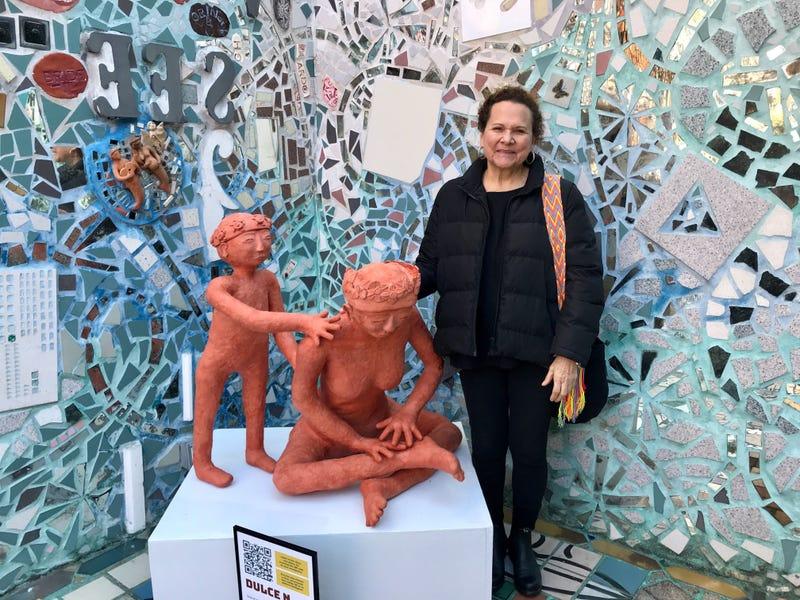 "Nora Litz, of Puentes de Salud, is lead artist of the new exhibit ""Vidas Suspendidas"" at Philadelphia's Magic Gardens through November 18."