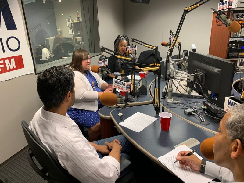"""Guests, Hilesh Patel, Heather Miller and Tonika Lewis Johnson join Craig Dellimore for a talk about what it means to be a """"leader ."""""""