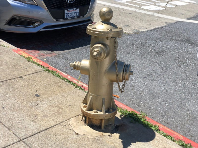 "The fire hydrant, known as ""The Little Giant,"" in the Mission is one of three in San Francisco that will have plaques installed to commemorate their usefulness in stopping the 1906 fire in San Francisco."