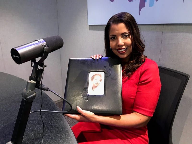Faye Coleman shows a photograph of her mother, to whom the late African American playwright August Wilson wrote a series of love letters.
